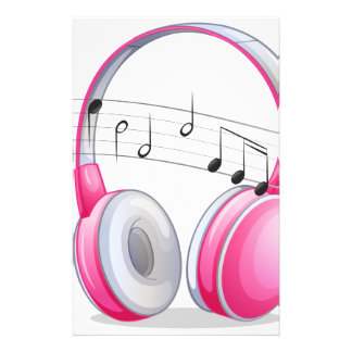 Headphone and notes stationery