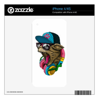 Headphone cat decal for iPhone 4S