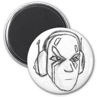Headphone Head Fridge Magnet