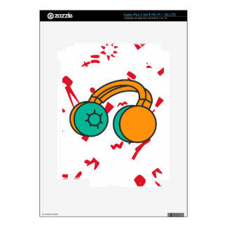 Headphone Illustration Design Collection Decal For iPad 3