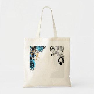 Headphone music tote bag
