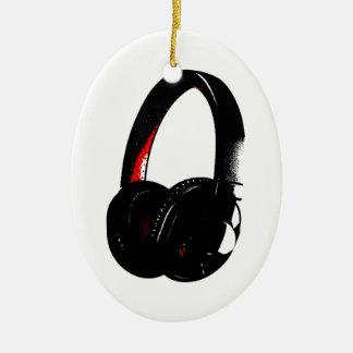 Headphone Pop Art Head Phone Ceramic Ornament