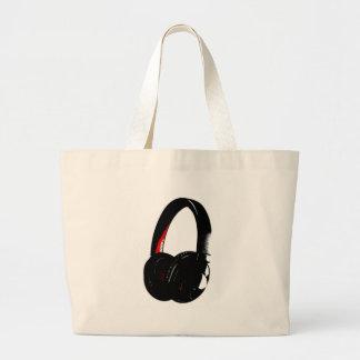 Headphone Pop Art Head Phone Large Tote Bag