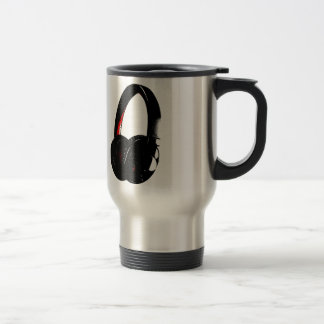 Headphone Pop Art Head Phone Travel Mug