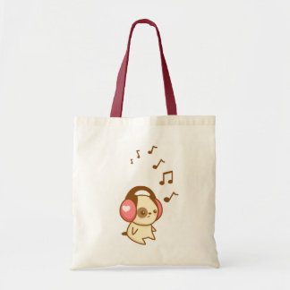 Headphone Pup Tote Budget Tote Bag