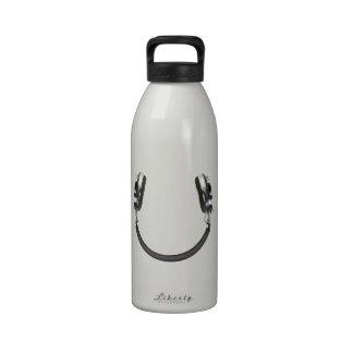 Headphone Smile Reusable Water Bottle