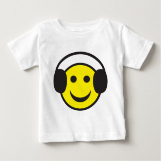 Headphone Smiley Face Rave Baby T-Shirt