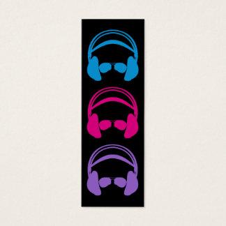 Headphone & Sunglasses Bookmark Mini Business Card