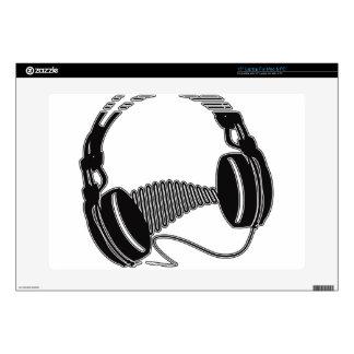 """Headphones 15"""" Laptop Skins"""