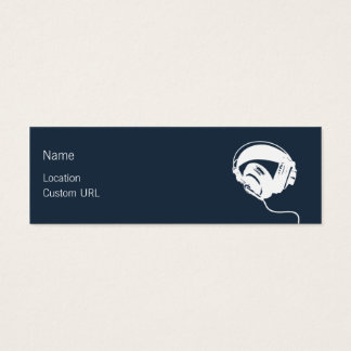 Headphones - Blue Mini Business Card