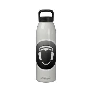 Headphones Button Water Bottle