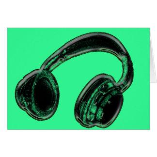Headphones Greeting Cards
