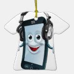 Headphones cell phone christmas ornament