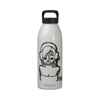 Headphones Chick Drinking Bottle