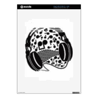Headphones Decal For iPad 2