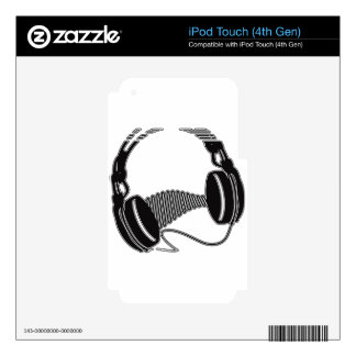 Headphones Decal For iPod Touch 4G