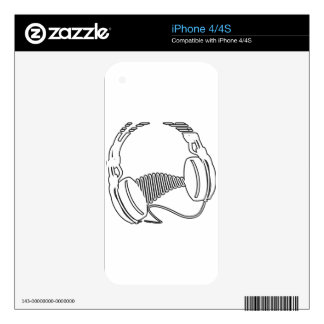 Headphones Decal For The iPhone 4S