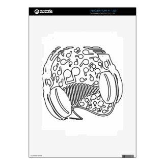 Headphones Decals For iPad 2