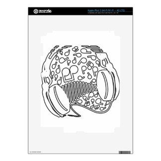 Headphones Decals For iPad 3
