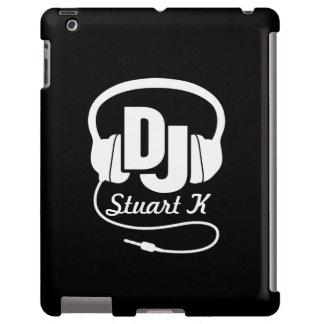 Headphones DJ named black and white ipad case