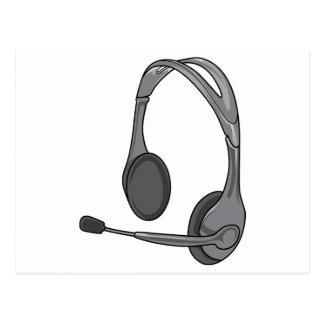 Headphones - Earphones - Headsets Audio Postcard