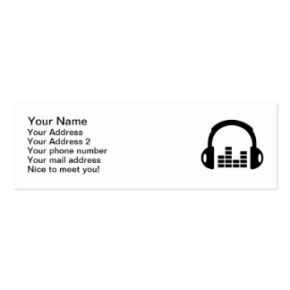 Headphones equalizer Double-Sided mini business cards (Pack of 20)