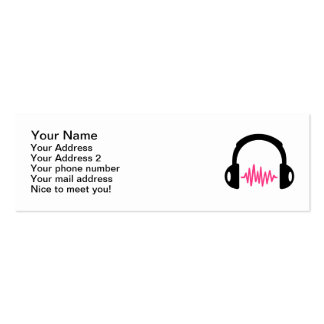 Headphones Frequency Double-Sided Mini Business Cards (Pack Of 20)