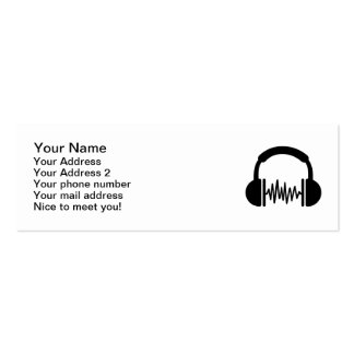 Headphones Frequency DJ Double-Sided Mini Business Cards (Pack Of 20)