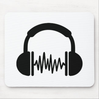 Headphones Frequency DJ Mouse Pads