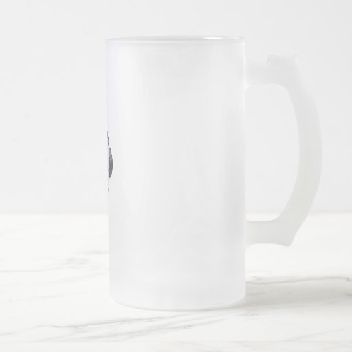 headphones frosted glass beer mug