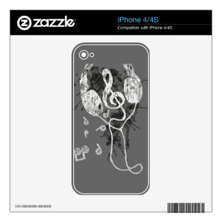 Headphones(G) Decal For iPhone 4
