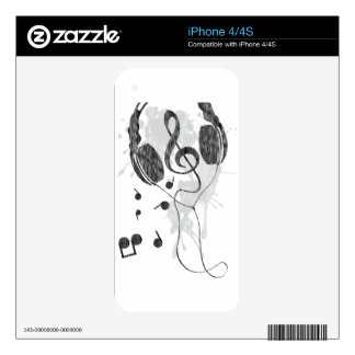 Headphones(G) Decal For iPhone 4S