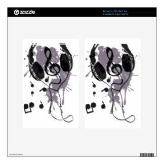 Headphones(G) Decals For Kindle Fire
