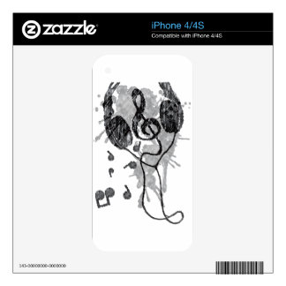 Headphones(G) Decals For The iPhone 4S