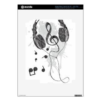 Headphones(G) iPad 3 Decal