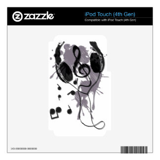 Headphones(G) iPod Touch 4G Decals