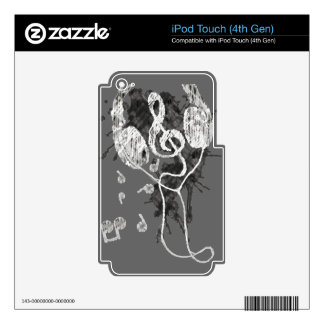 Headphones(G) Skin For iPod Touch 4G