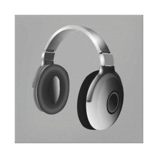HEADPHONES GALLERY WRAPPED CANVAS