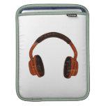 Headphones Grunge Faded Red Brown Graphic iPad Sleeves