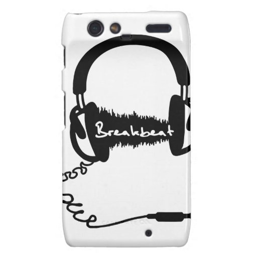Headphones Headphones Audio Wave Motif: Breakbeat Droid RAZR Cover