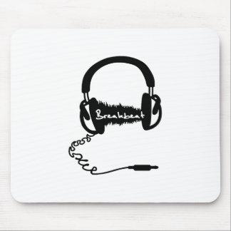 Headphones Headphones Audio Wave Motif: Breakbeat Mouse Pads