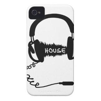 Headphones Headphones Audio Wave Motif: House Musi iPhone 4 Case-Mate Cases