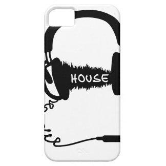 Headphones Headphones Audio Wave Motif: House Musi iPhone 5 Case
