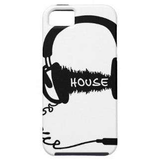 Headphones Headphones Audio Wave Motif: House Musi iPhone 5 Cover