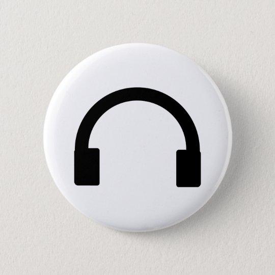 headphones icon pinback button