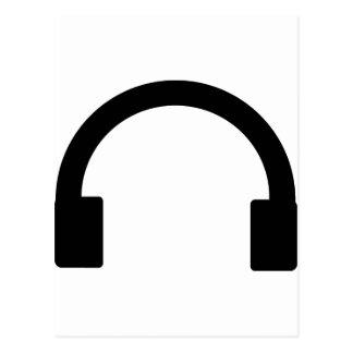 headphones icon post cards