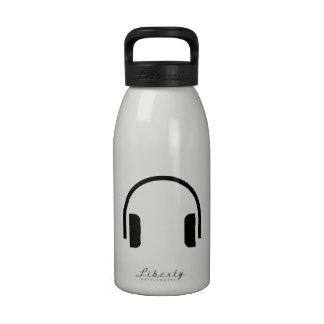 Headphones Icon Reusable Water Bottles