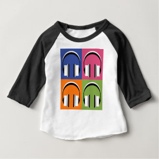 headphones in Bright Colours Baby T-Shirt
