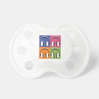headphones in Bright Colours Pacifier