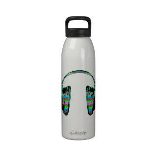 Headphones in Perspective Water Bottles
